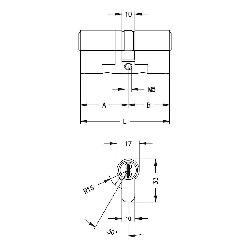 Profil-Doppelzylinder 3KS Plus - 2