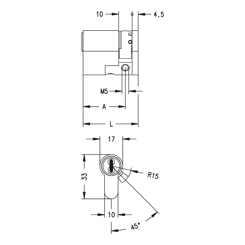 Profil-Halbzylinder 3KS Plus - 2