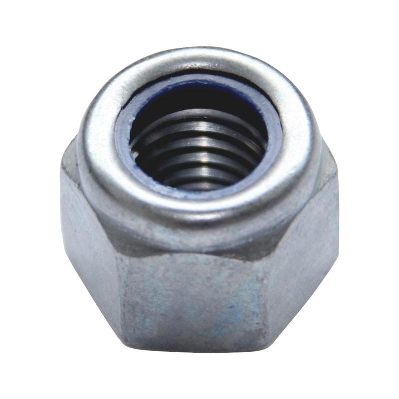 Sechskantmutter mit Klemmteil (nichtmetallischer Einsatz) - MU-STOP-SO7040-10-SW8-(ZNSHL)-M5