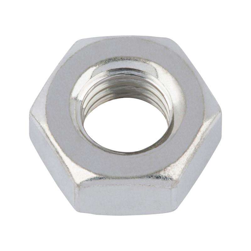 Sechskantmutter mit Klemmteil (Ganzmetall) - MU-6KT-STOP-AEDIN980-A2-(SN)-SW36-M24