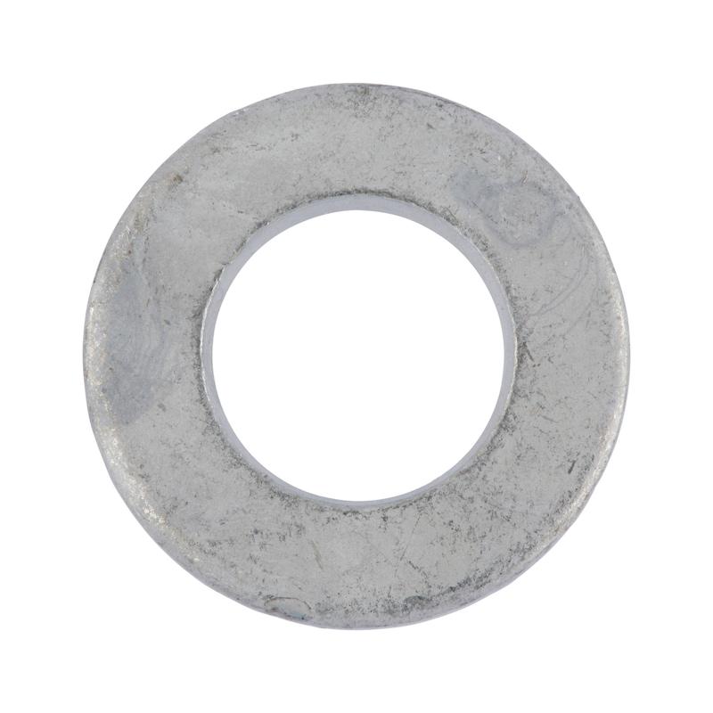 Ring DIN 125, staal thermisch verzinkt, hardheidsklasse 140 HV - 1