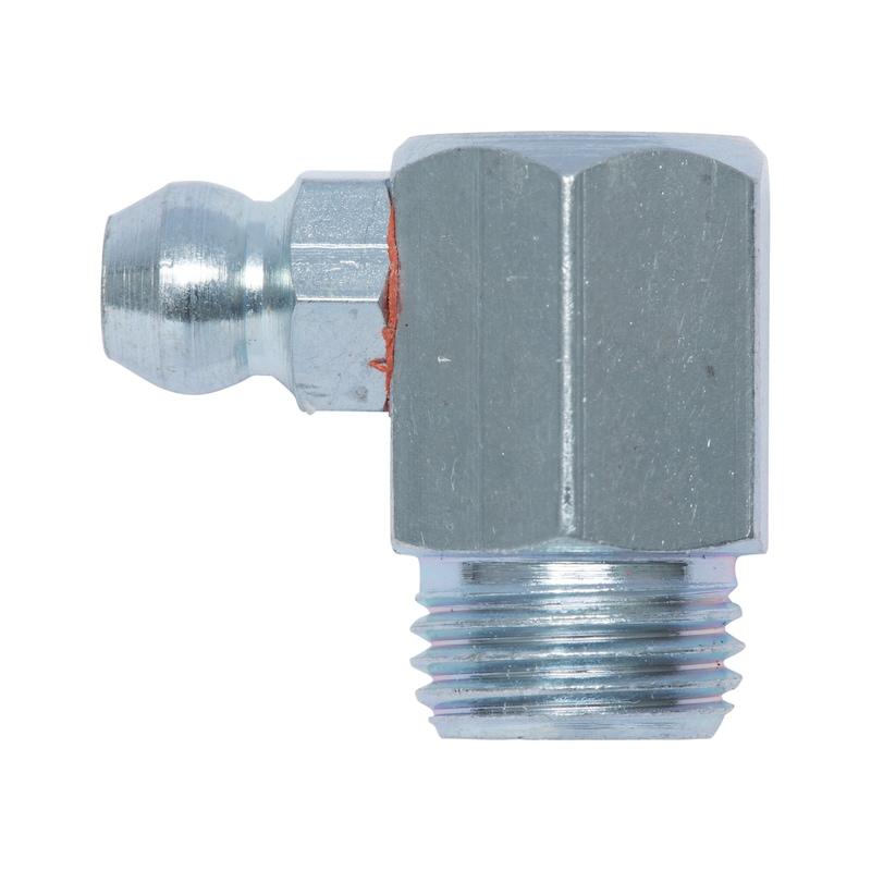 Kegelnippel 90° - NPL-DIN71412-H3-(A2K)-M10X1