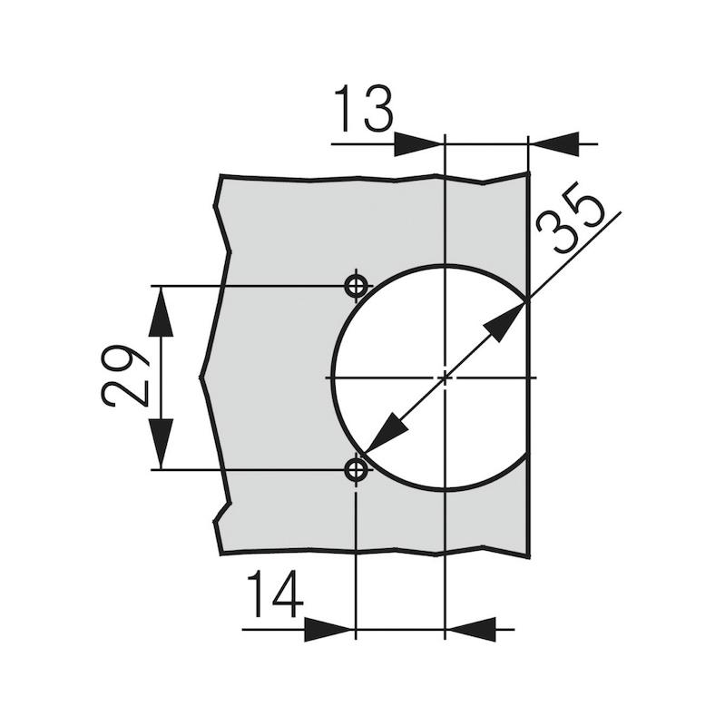 Flap hinge TIOMOS - 3