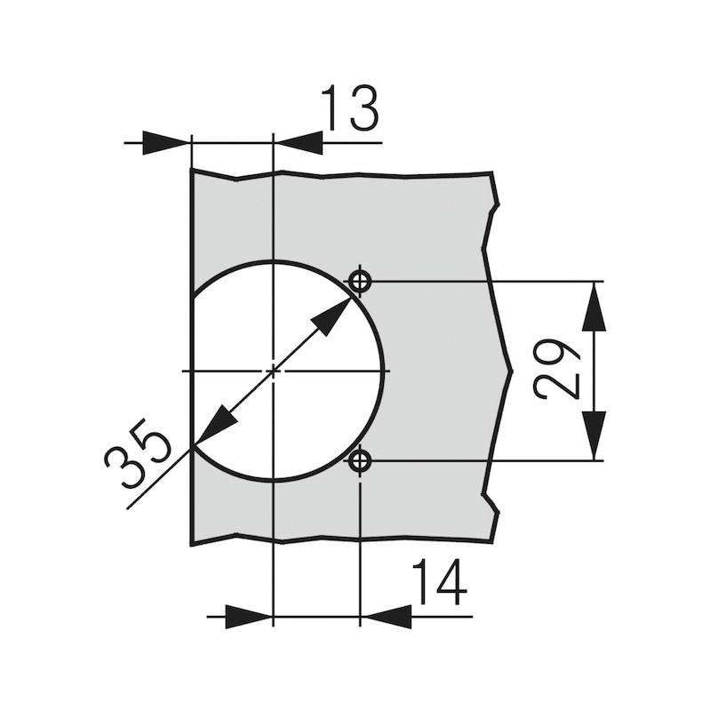 Flap hinge TIOMOS - 4