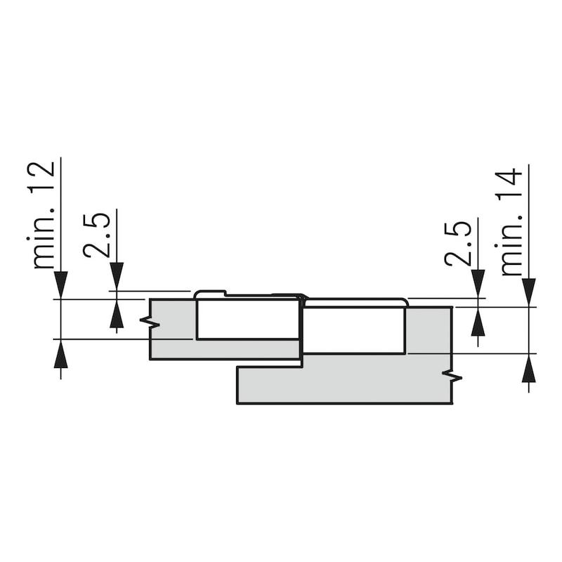 Flap hinge TIOMOS - 5