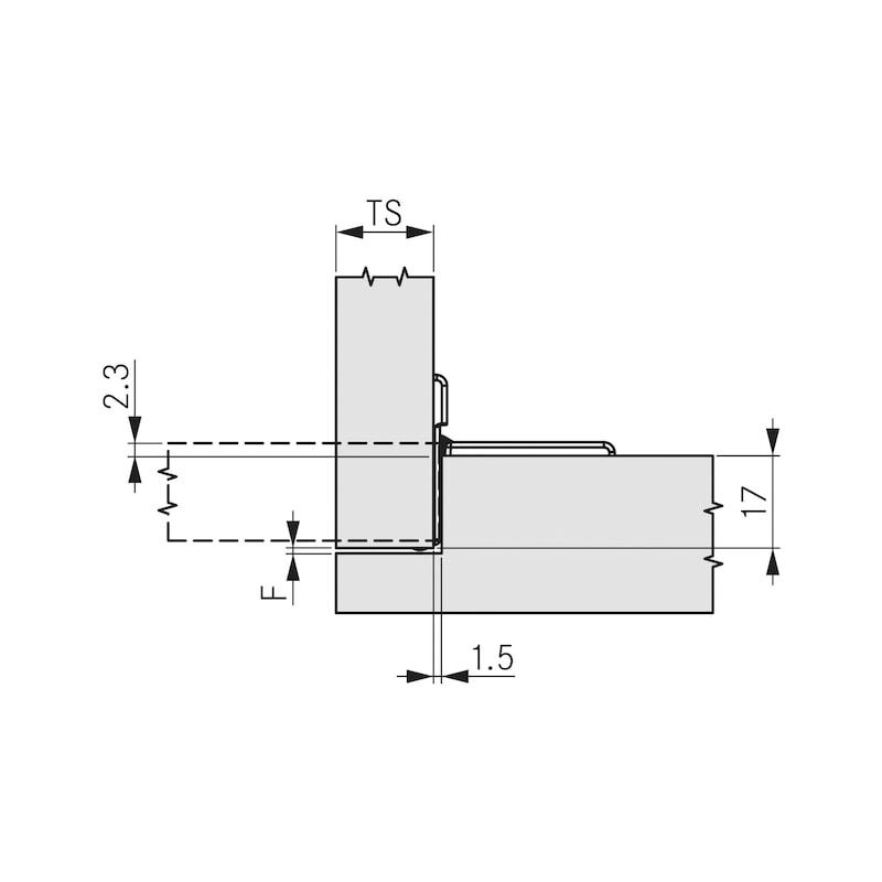 Flap hinge TIOMOS - 2