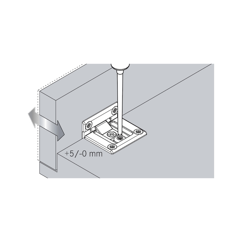 Flap hinge TIOMOS - 11