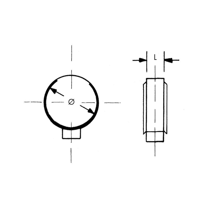 Fascetta a un'orecchia con anello di protezione - FASCH.1 ORECCH. INOX A2  9,1-10,8MM