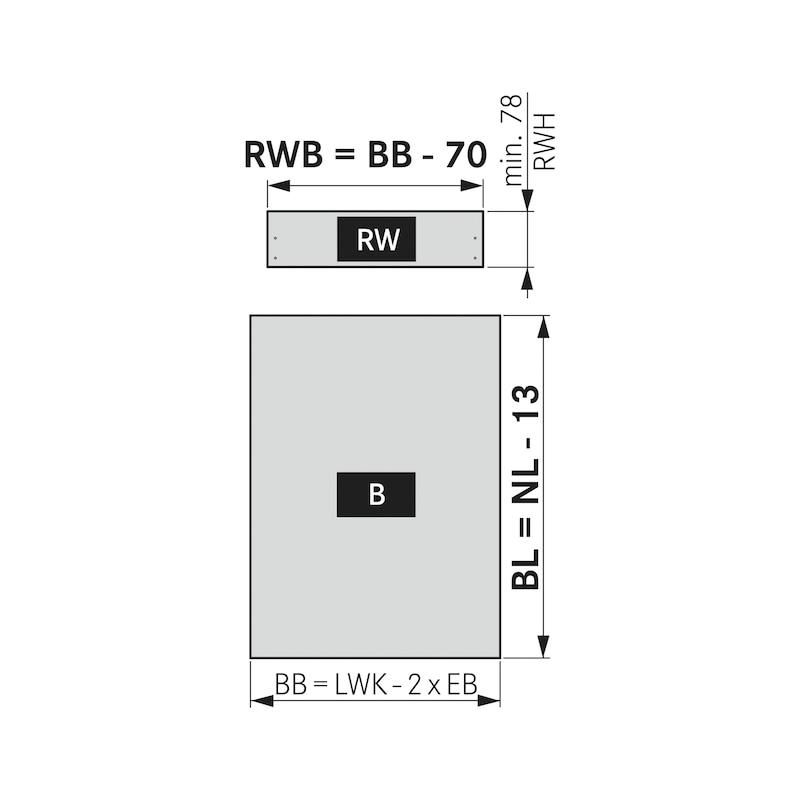 Spülenrückwandhalter Nova Pro Scala H186 - 3
