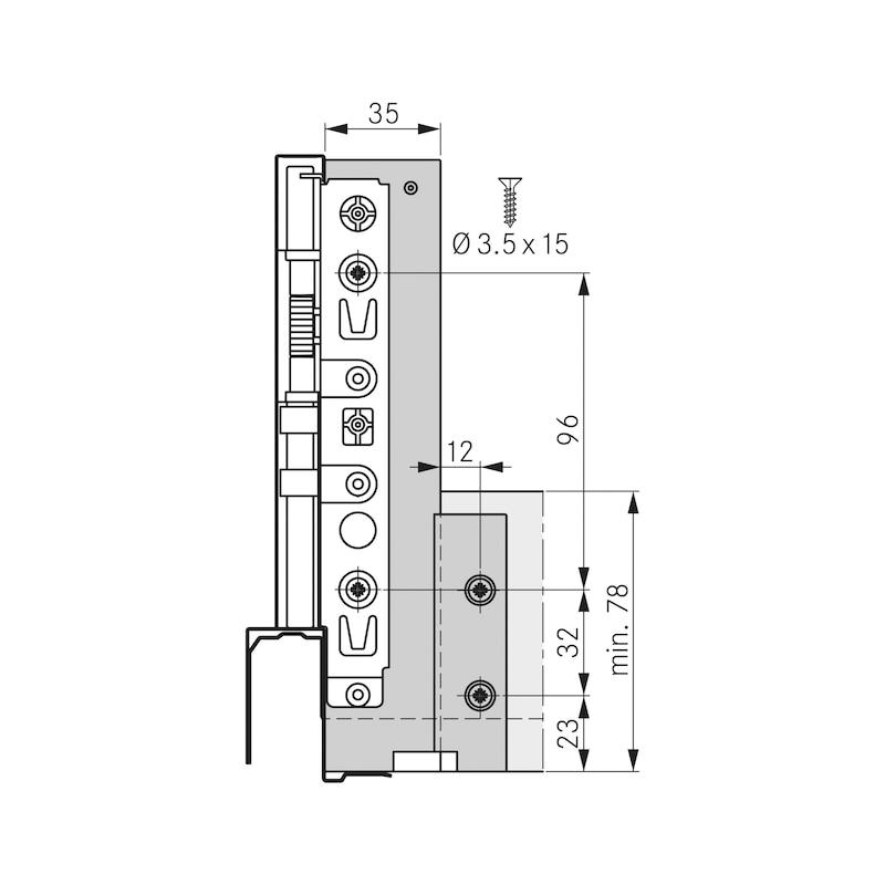 Spülenrückwandhalter Nova Pro Scala H186 - 2