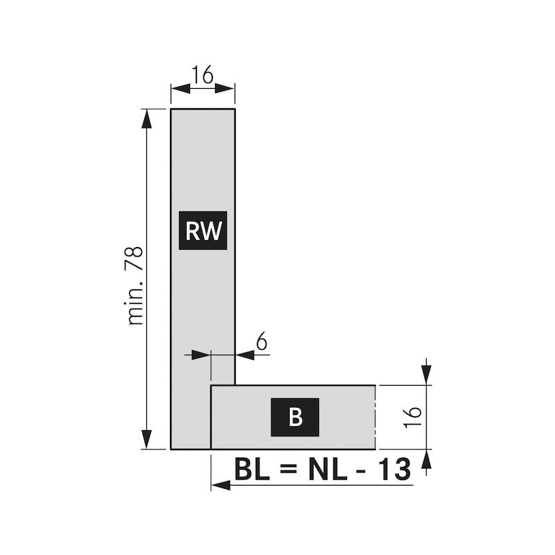 Spülenrückwandhalter Nova Pro Scala H186 - 4