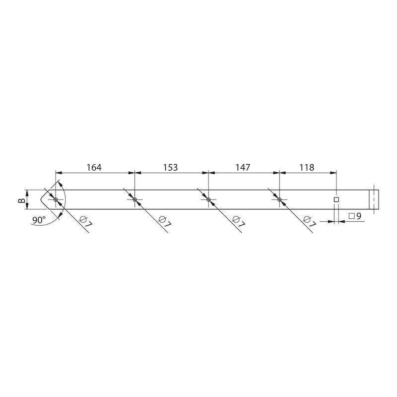 Ladenband  - LADBA-ST-(ZN)-BLAU-D13MM-700X40MM