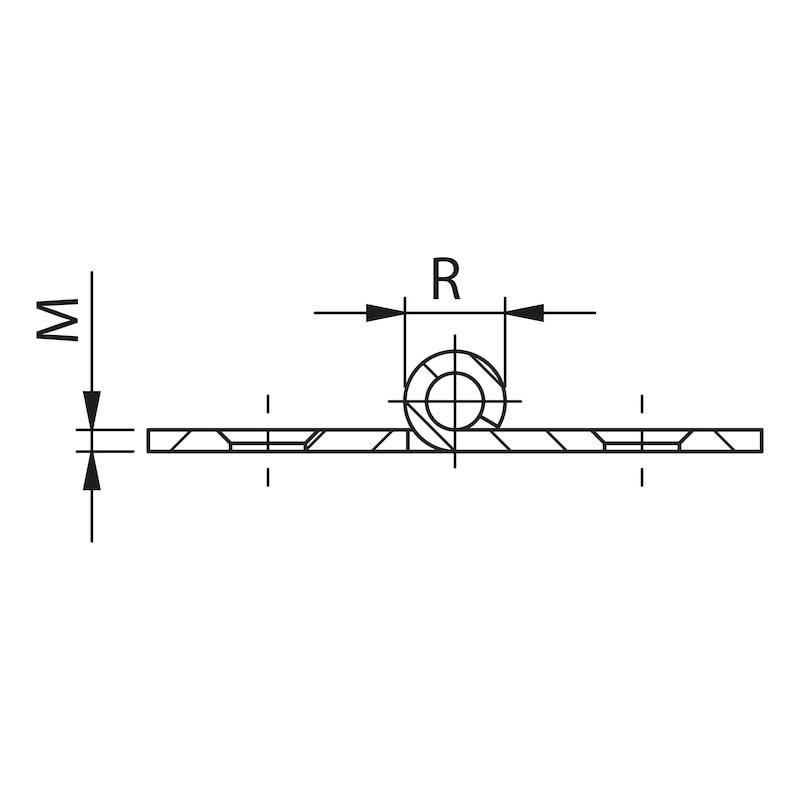 Gerollte Scharniere Form A schmal - 2