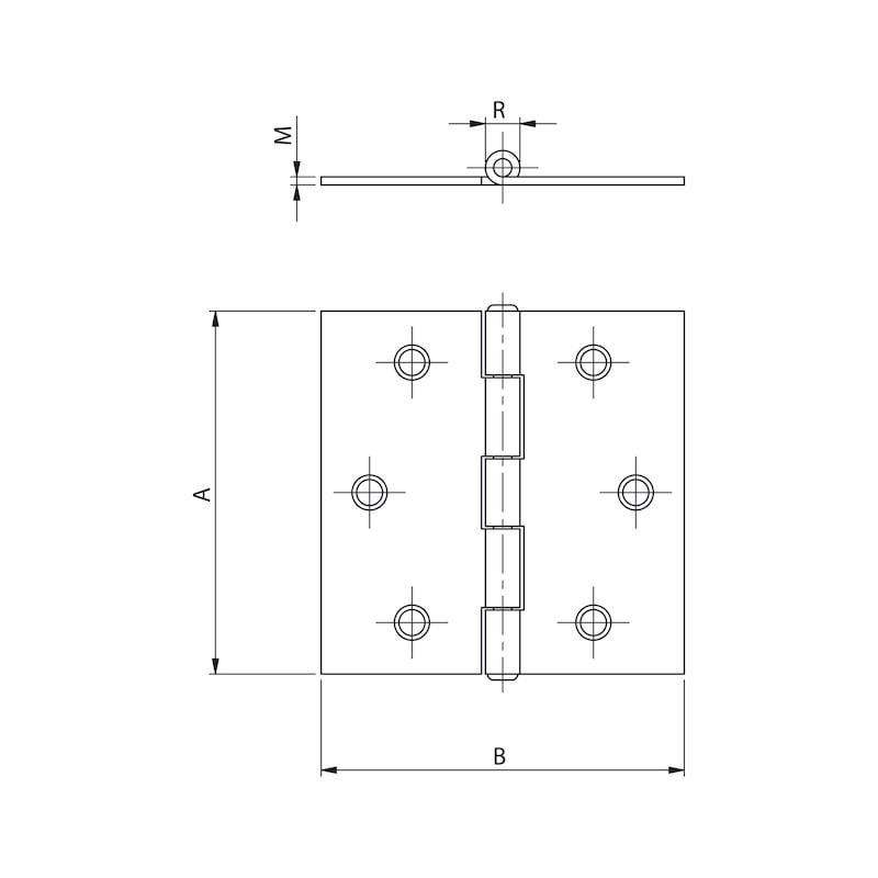 Gerollte Scharniere Form C quadratisch - 2