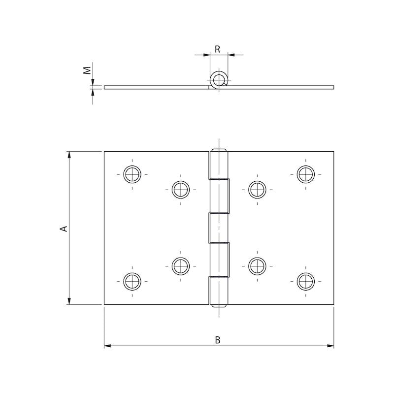 Gerollte Scharniere Form D breit - 2