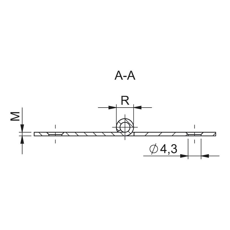 Gerollte Scharniere Form D breit - KISTBA-BREIT-(FORM-D)-ST-(ZN)-40X60