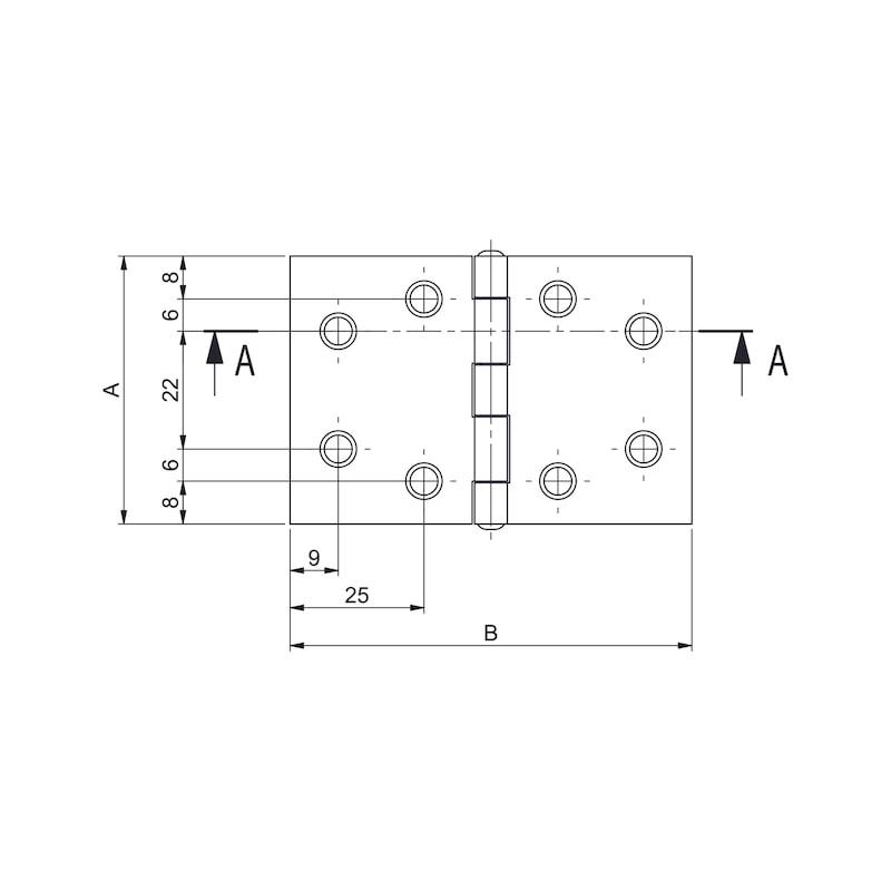 Gerollte Scharniere Form D breit - KISTBA-BREIT-(FORM-D)-ST-(ZN)-50X75