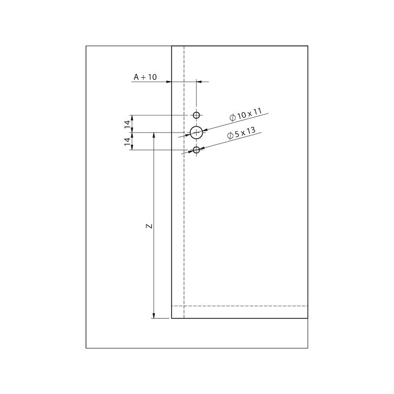 Compas pour abattant relevant MINI type DW - 5