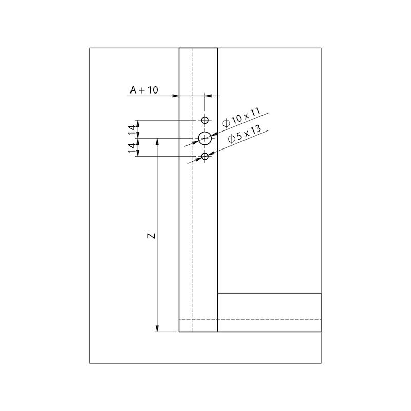 Compas pour abattant relevant MINI type DW - 6