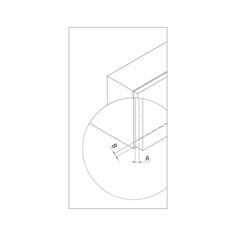 Compas pour abattant relevant MINI type DW - 4