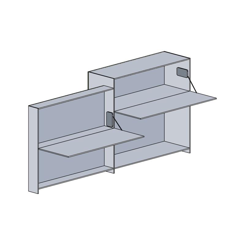 Compas pour abattant relevant MINI type DW - 7