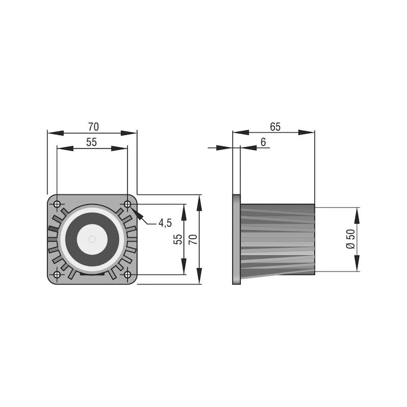 Haftmagnet THM 440 für Schließfolgeregelungen und Feststellanlagen - 2