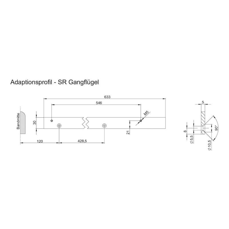 Adaptionsprofil für SR-EFR Gleitschiene - 2