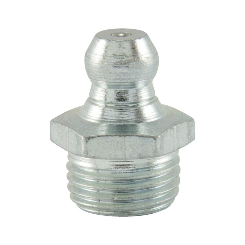 Kegelschmiernippel 180°, gerade Form, Zoll - NPL-DIN71412-H1-(A2K)-R1/8ZO