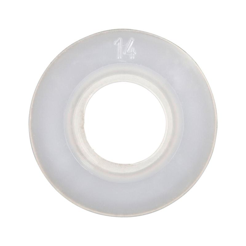 六角ボルトおよびナット用平ワッシャー - ポリアミドワッシャー 白 125 8.4MM