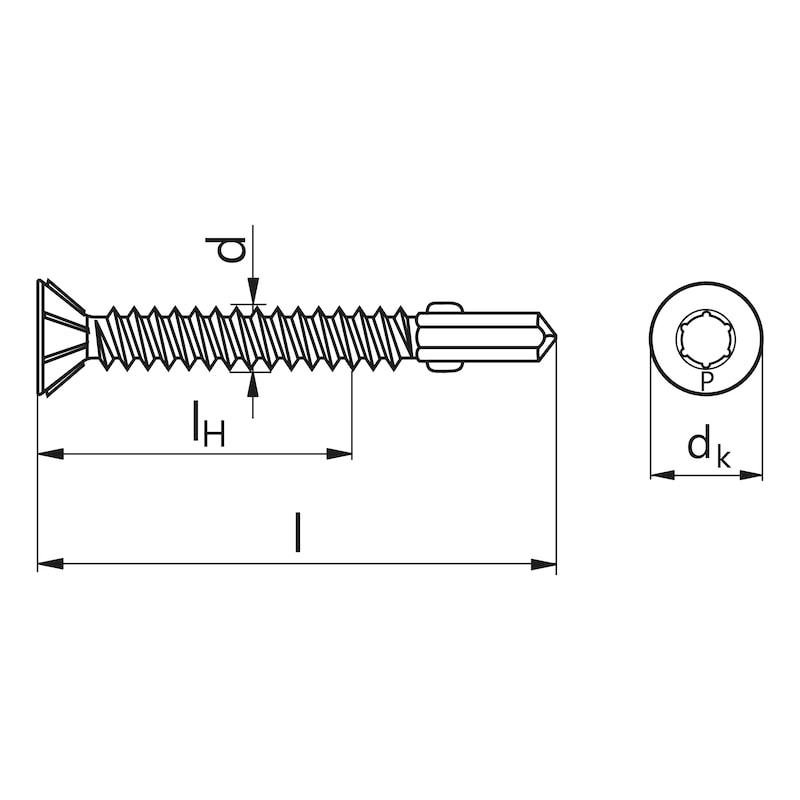 Flügel-Bohrschraube Senkfräskopf mit AW-Antrieb PIAS® - 2