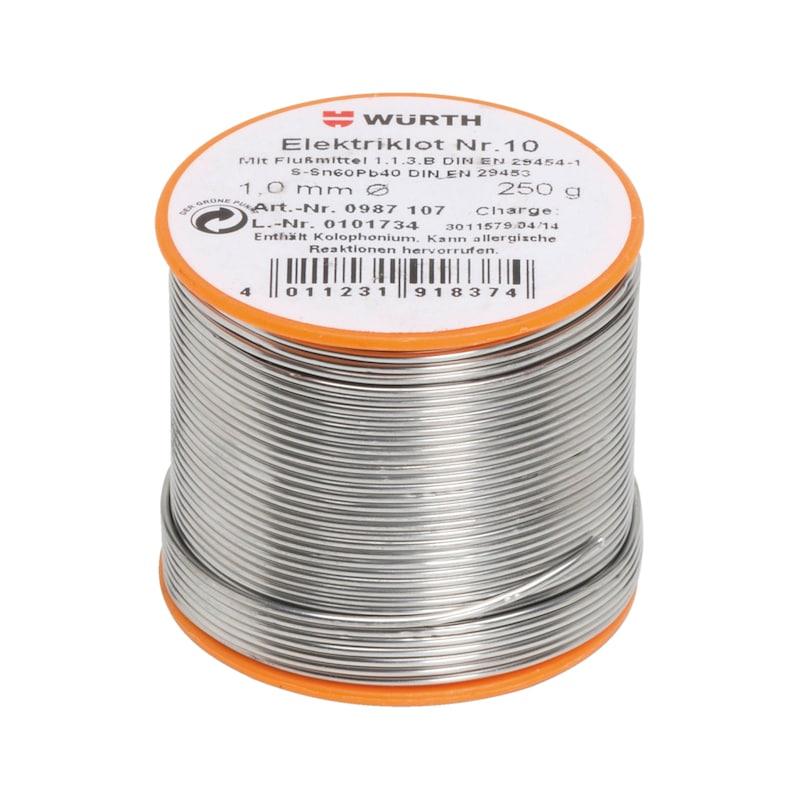 Filo di apporto per elettronica n. 10 - STAGNO P/ELETTRON. 1,0MM SN60-250G