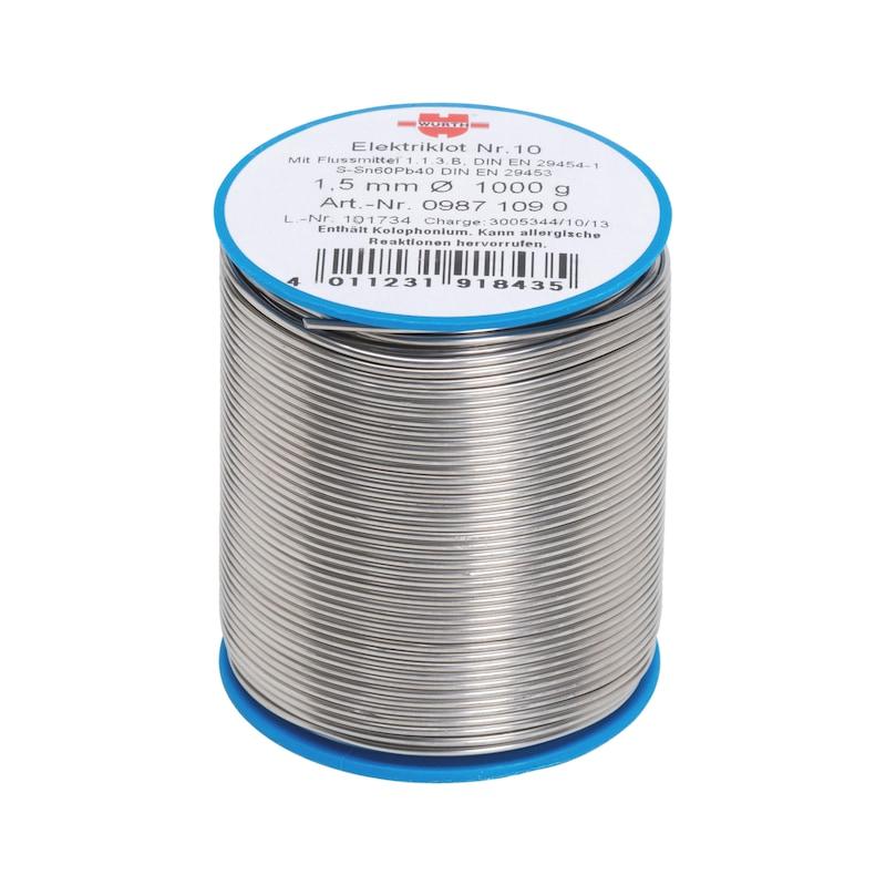 Lut do układów elektronicznych nr 10 - CYNA-NO10-ZN60/PB40-1KG-D1,5