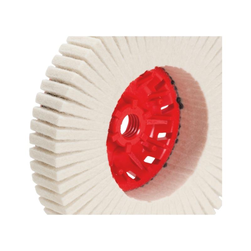 Lamelpolerskive af filt - LAMELRONDEL 125MM M14 FILT