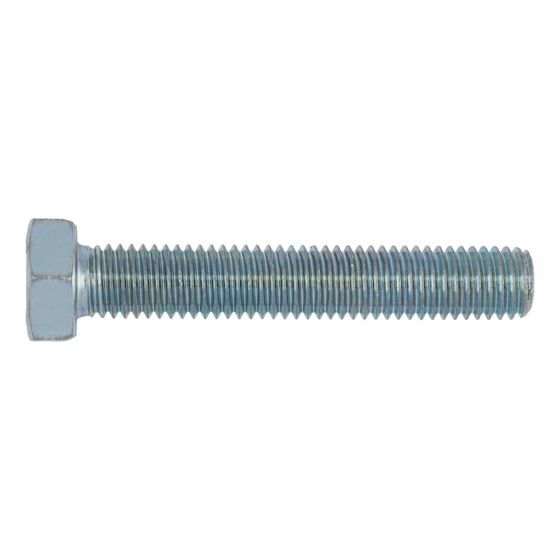 Hexagonal bolt with thread up to the head - 1