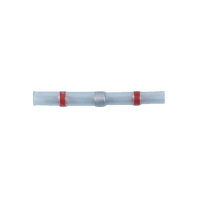 Heat-shrink solder butt connector - BUTTCON-SLDR-HSHRTUBE-RED-2,7MM