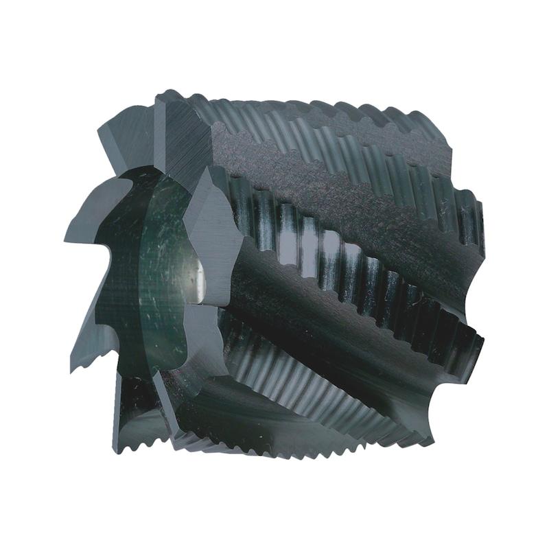 Walzenstirnfräser HSCo DIN 1880 Typ HR TIALN - WALZSTIRNFRS-DIN1880-HSCO-HR-TIN-D63MM