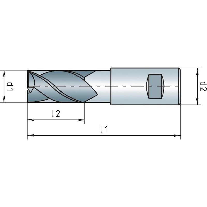 Schaftfräser HSCo8 kurz, DIN 844K Dreischneider, zentrumschneidend - SHFTFRS-DIN844B-K-HSCO8-N-D15,0MM