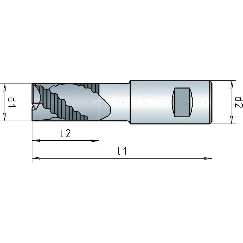 Schaftfräser HSCo8 kurz, DIN 844K, zentrumschneidend - SHFTFRS-DIN844B-K-HSSCO8-TN-D25,0MM