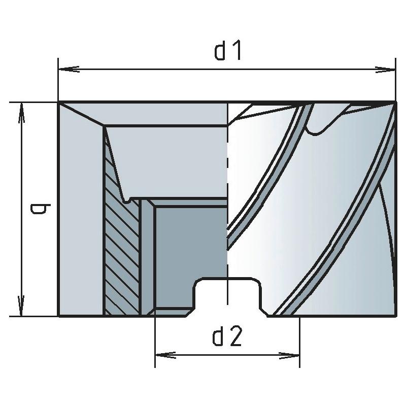 Walzenstirnfräser HSCo DIN 841 Typ N - WALZSTIRNFRS-DIN841-HSCO-D35,0X35,0MM