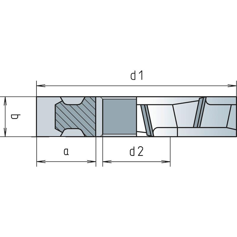 Scheibenfräser HSCo DIN 885A Kreuzverzahnt Typ N - 2