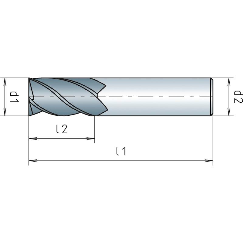 VHM-Schaftfräser, kurz, Vierschneider - SHFTFRS-WN-K-VHM-D12,0MM