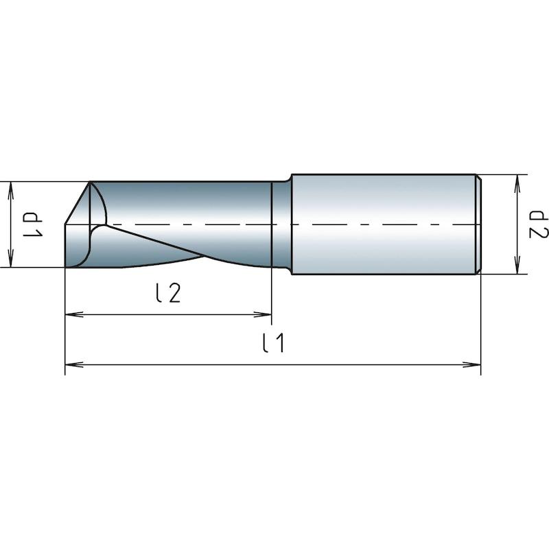 VHM-Einzahnfräser Aluminium - 2