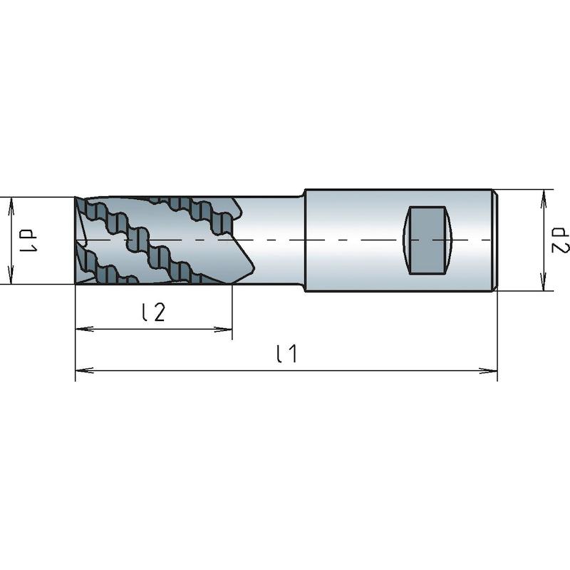 VHM-Schruppfräser 30° DIN 6527L lang - 2