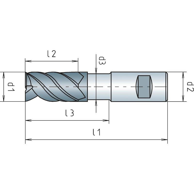 Fräser VHM SPEEDCUT Aluminium XL HB, Dreischneider - 2