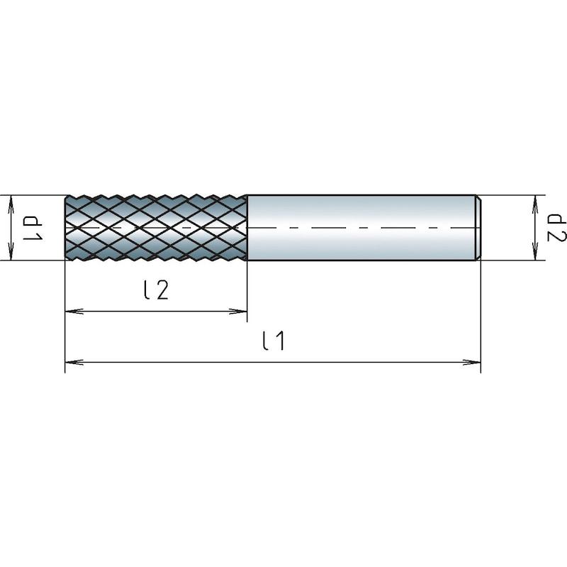 VHM-Konturfräser Kunststoff mit Stirnverzahnung - 2
