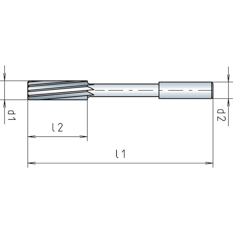 Maschinenreibahle VHM, H7, ähnlich DIN 8093 - 2