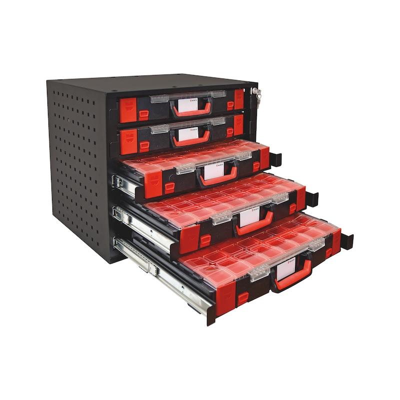 Stapelschrank Set mit ORSY® System-Koffern 8.4.1 - SYSSTPLSHRNK-SET-M.SYSKOFFR-8.4.1