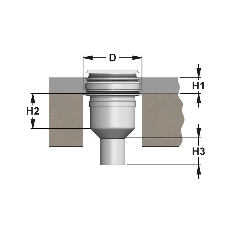 Ablauf senkrecht Punkt - ABLF-DBRD-PKT-SENKRT-DN50
