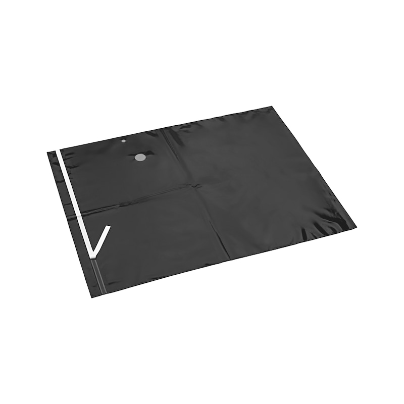 PE disposal bag with spunbonded fabric - AY-(BAG-PE)-VC-SPUNBONDEDFLEECE-ISS