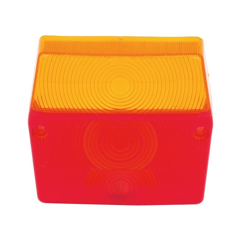 Cabochon pour feu 3 fonction carré - 1